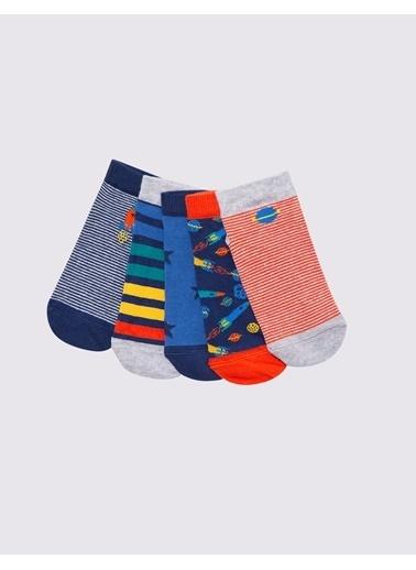 Marks & Spencer 5'li Kamuflaj Desenli Çorap Seti Renkli